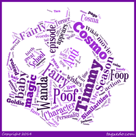 Poof Fairywinkle-Cosma Word Cloud Typography by 120dog