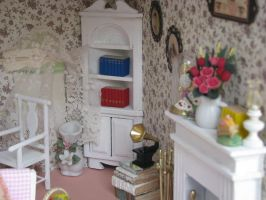 Shabby Chic Retreat Reading Room Detail by duskofinnocence