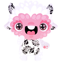 Pinky Monster by Miss-Glitter
