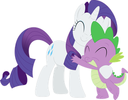 Rarity is the only mare Spike will ever need by Porygon2z