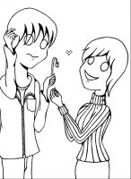 Awkward Love Lineart by LadyDarque