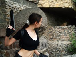 Lara Croft - Meeting with lion by TanyaCroft