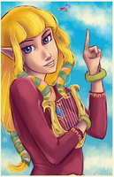 Skyward Sword Zelda by ElizaLento