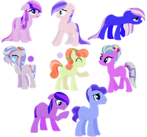 Lazy Crystal Pony Recolor Adopts .:4/8 OPEN:. by Rin-Chan16Adoptables