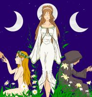 The Triple Goddess by bubble-fairy