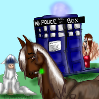 doctor who horse by lipazzaner
