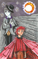 The Tale of The Raven and The Cardinal by Mollykittykat