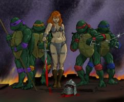 TLIID Teenage Mutant Ninja Turtles meet Red Sonja by Nick-Perks