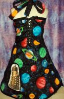 Doctor Who Dress Back view by Alien-Phant