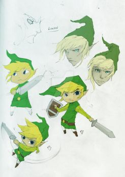 Sketches of Link by gankutsouthecount