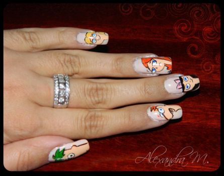 Phineas and Ferb right hand by LadyGWSY