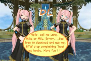 MMD DT Miku Cosplaying Luka Model Download by segawa2580