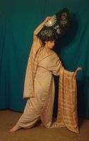 Copper Zari Kimono 4 by HiddenYume-stock