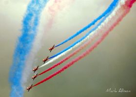 The Red Arows, coloured smoke by Mark-Allison