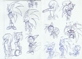 Sketches Sonic Boom by SILVERtheHEDGEHOGyes