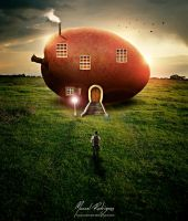 Giant Fruit House by mannoel