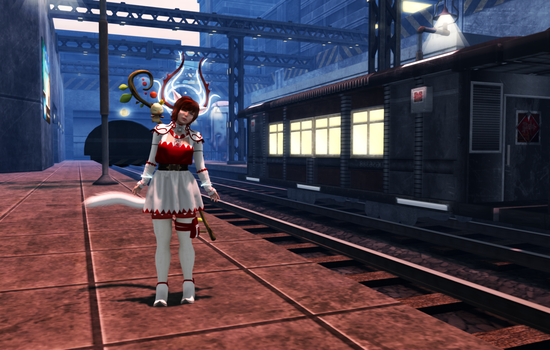 My White Mage - At the train by Lunar-Prism