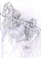 Batman vs Scarecrow wip by dushans