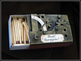 Steampunk Matchbox by Indirie