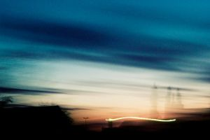 light wave after sunset by miclart