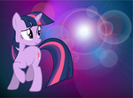 Twilight Sparkle Wallpaper by JustWestOfWeird