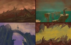 1.5 hour multi-speedpaint environments by Zyryphocastria