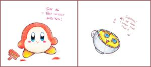 Kirby Doodles #4 by PaperLillie