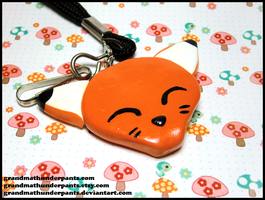 Happy Fox Lanyard by GrandmaThunderpants