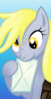 Mini portrait: Derpy Hooves by CherryPaintPony