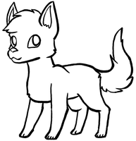 Free Canine Lineart by PrincessentiaFarms