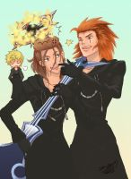 Axel and Demyx by Sho-chan9