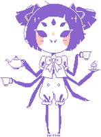 Muffet Pagedoll - Free to use - {ANIMATED] by Lu-tan