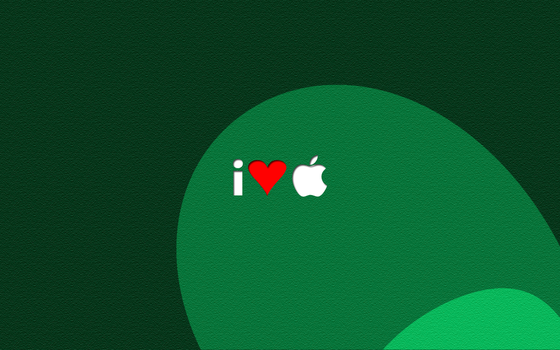 I Heart Apple Desktop Green by sigalakos