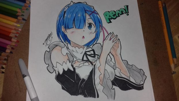 Rem ( Re:zero ) by JhonnyHatsune55