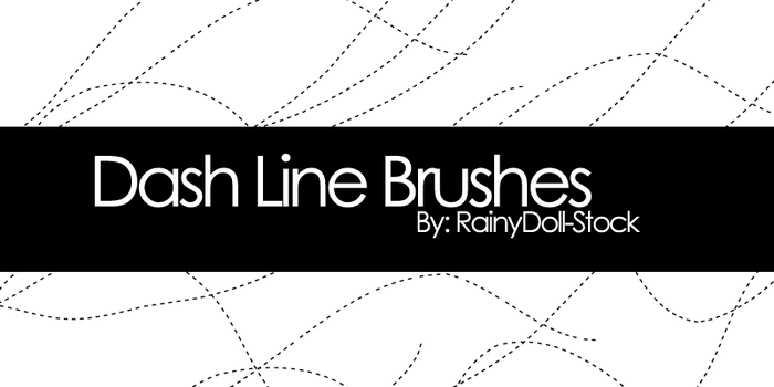 Dash Line Brushes by RainyDoll-Stock