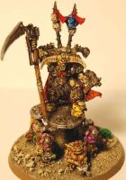 Nurgle Lord on Palanquin WH40K by TYKMauro