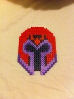 Magneto - perler beads by Rest-In-Pixels