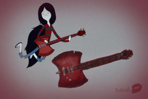 Marceline's guitar (polymer clay) by trollwaffle
