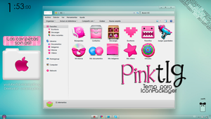 Tema Pink para IconPackager :) by tutorialeslupitha
