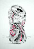 Stippled Coke Can by chrrygrl23
