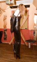 latex hobble dress and ballet boots by chris3382