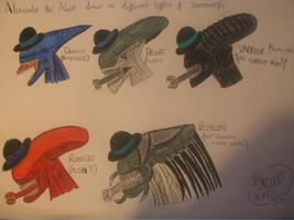 Alexander the alien chap as other xenomorphs by spyaroundhere35