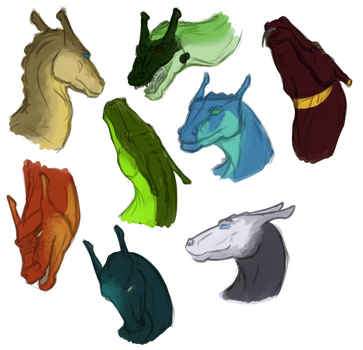 Bunch o' Dragons by BuffyandBramble