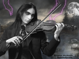 Gothic love and violin.... by morganablackmoon