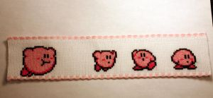 Kirby Bookmark by SweetNerdyCakes