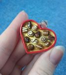 Red Heart Valentine Chocolate Pendant by xandraclay