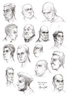 Face Studies Men 01 by the-a-line