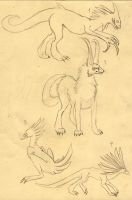 Bestiary concepts 1-- w.i.p. by snoopi888