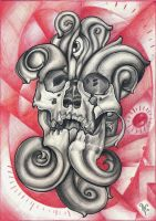 Skull Tattoo design by kirtatas