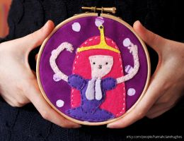 Princess Bubblegum Embroidery Hoop by HCHughes